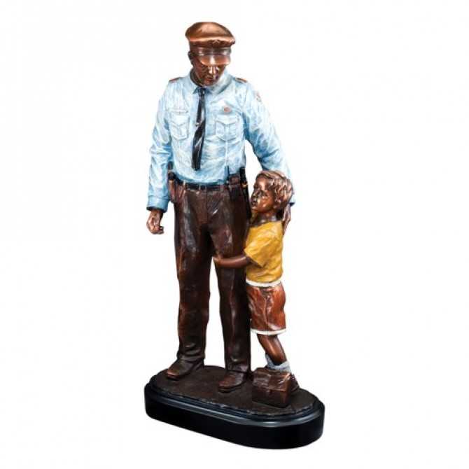 Police in the Community Statue Resin