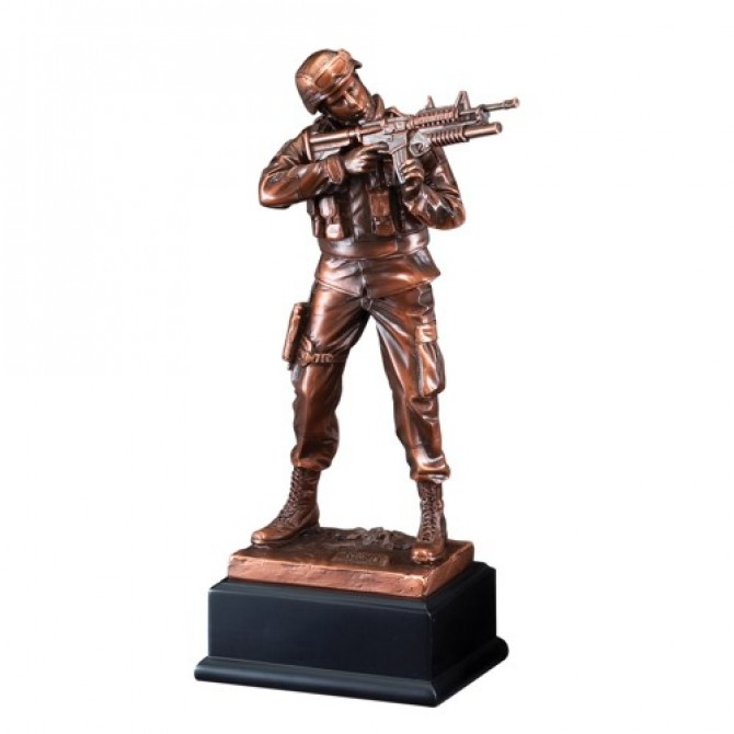 Army Statue Resin