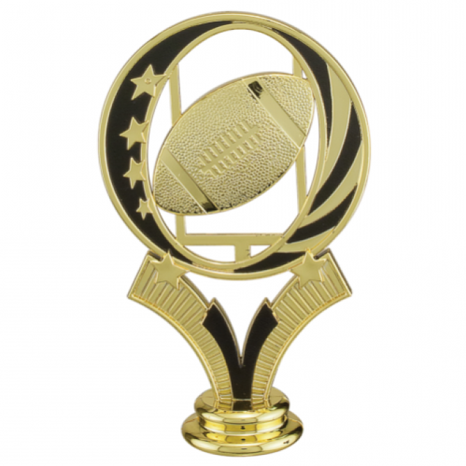 Black and Gold Football Topper