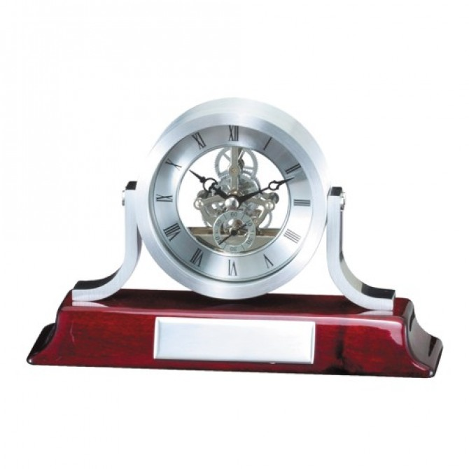 Rosewood Classic Mantle Clock