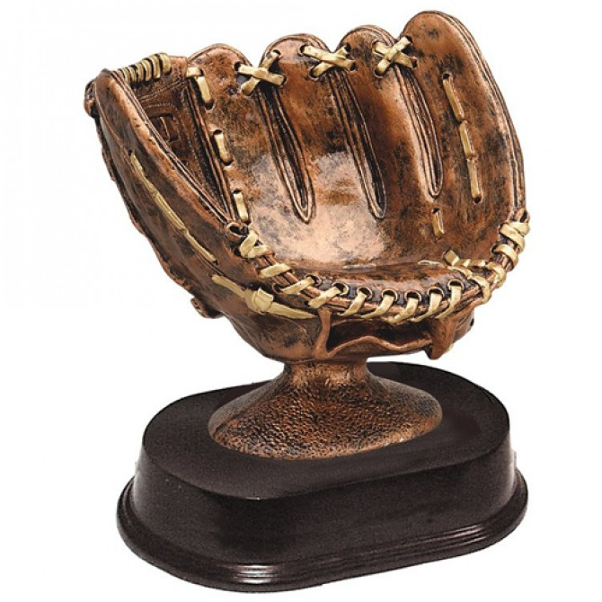 Baseball Holder Brown and Gold
