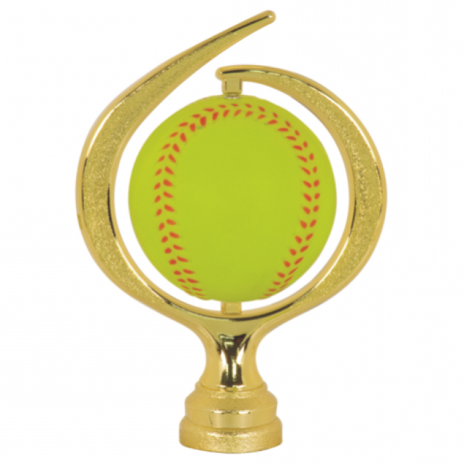 Large Swirl Soft Softball spinner