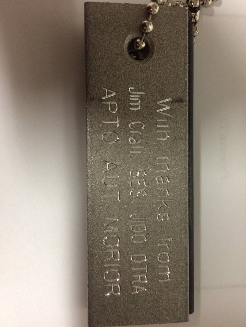 Magnesium Fire Starter Engraving