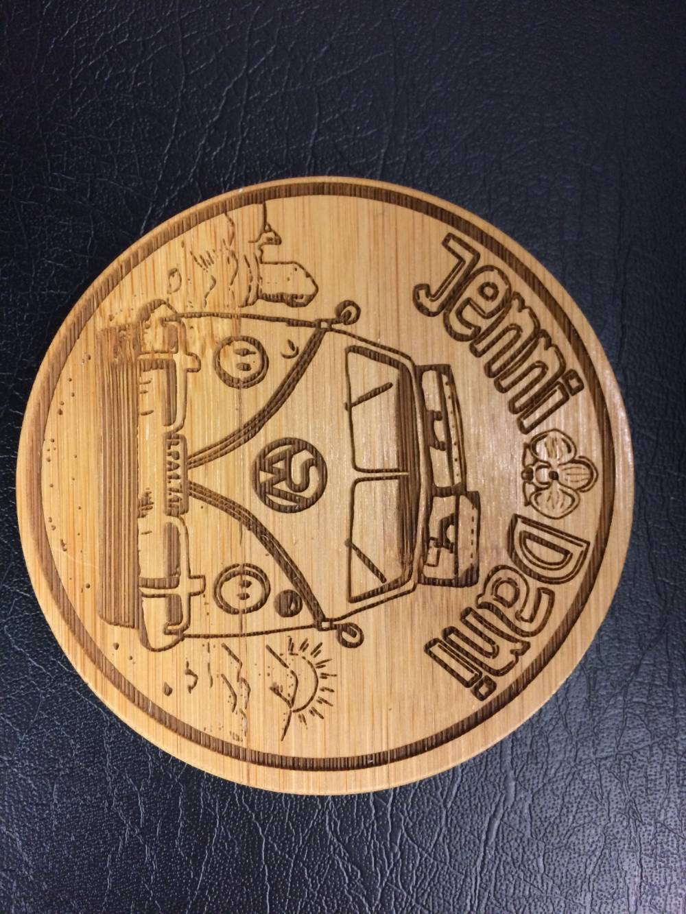 Wedding Coaster Engraving